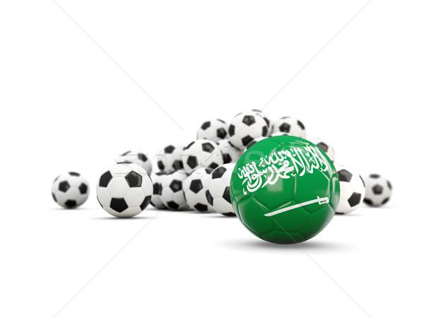 Football with flag of saudi arabia isolated on white Stock photo © MikhailMishchenko