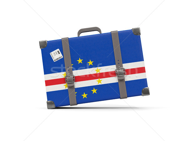 Stock photo: Luggage with flag of cape verde. Suitcase isolated on white
