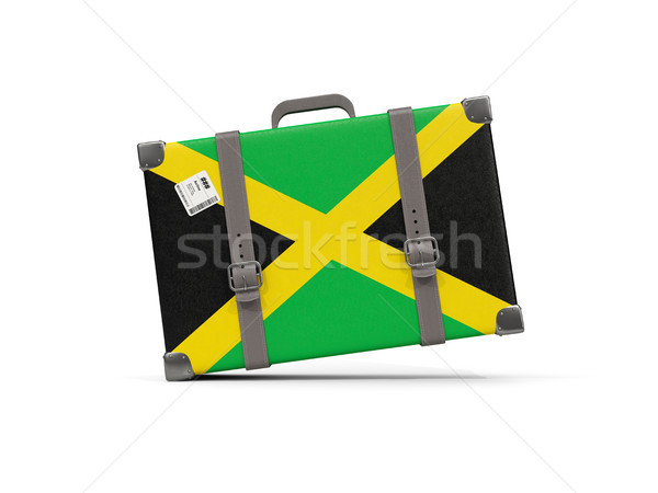 Bagage vlag Jamaica koffer geïsoleerd witte Stockfoto © MikhailMishchenko