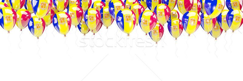 Ballonnen frame vlag Andorra geïsoleerd witte Stockfoto © MikhailMishchenko