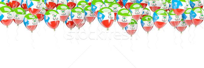 Balloons frame with flag of equatorial guinea Stock photo © MikhailMishchenko