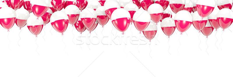 Ballons cadre pavillon Pologne isolé blanche Photo stock © MikhailMishchenko