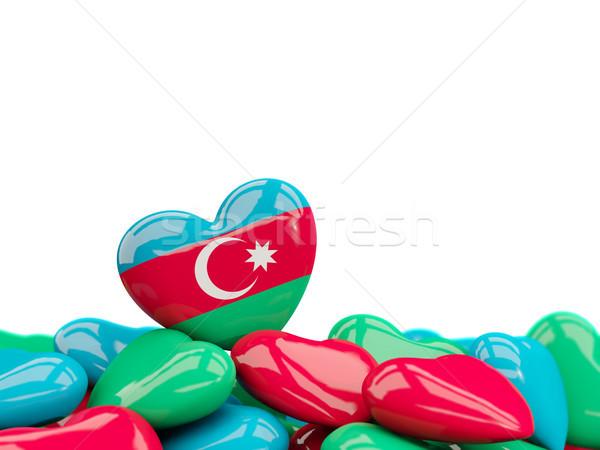 Serca banderą Azerbejdżan górę serca odizolowany Zdjęcia stock © MikhailMishchenko