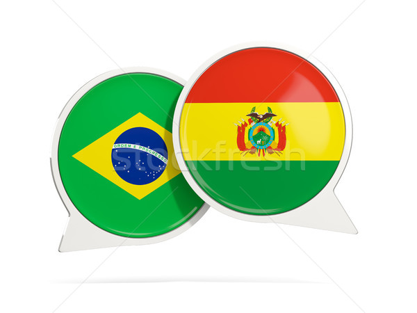 Sohbet kabarcıklar Brezilya Bolivya yalıtılmış beyaz Stok fotoğraf © MikhailMishchenko