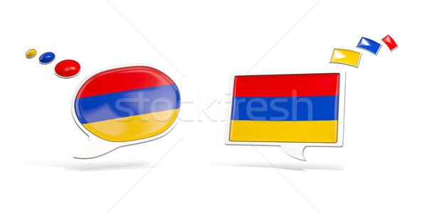 2 チャット アイコン フラグ アルメニア 広場 ストックフォト © MikhailMishchenko