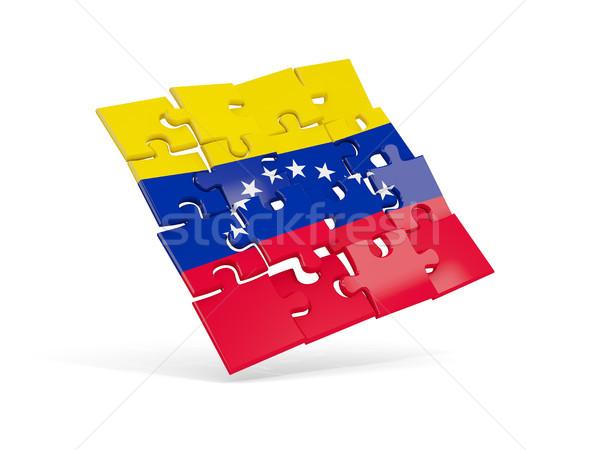 Puzzle zászló Venezuela izolált fehér 3d illusztráció Stock fotó © MikhailMishchenko