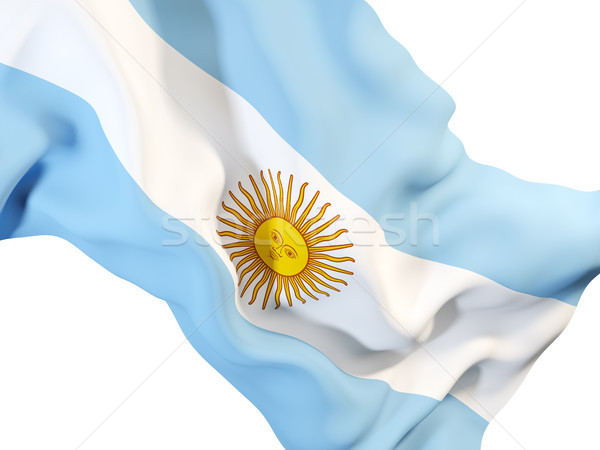 Waving flag of argentina Stock photo © MikhailMishchenko