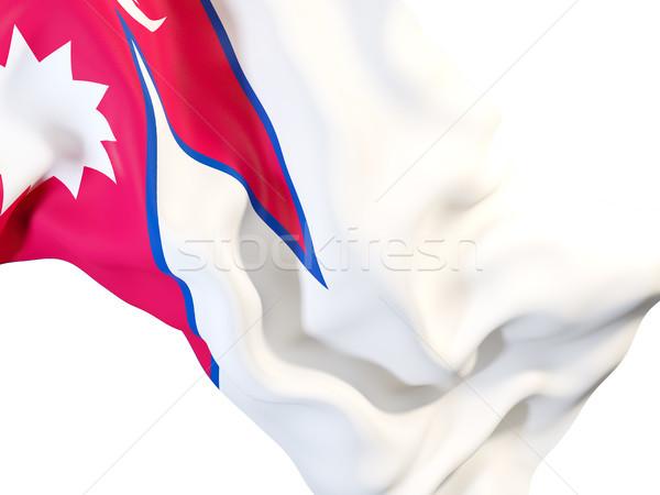 Bandera Nepal primer plano 3d viaje Foto stock © MikhailMishchenko