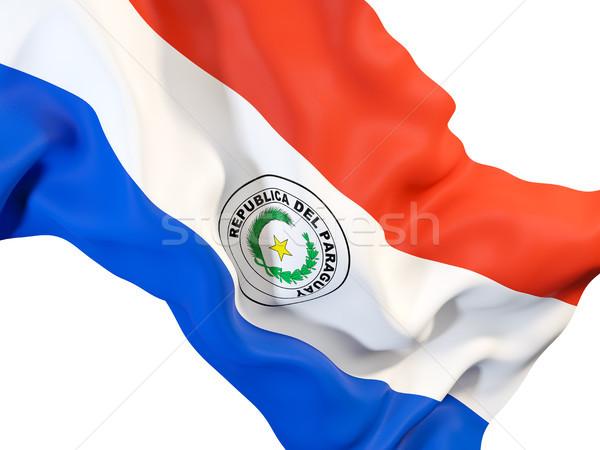 Banderą Paragwaj 3d ilustracji podróży Zdjęcia stock © MikhailMishchenko