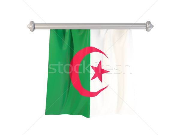 Stock photo: Pennant with flag of algeria