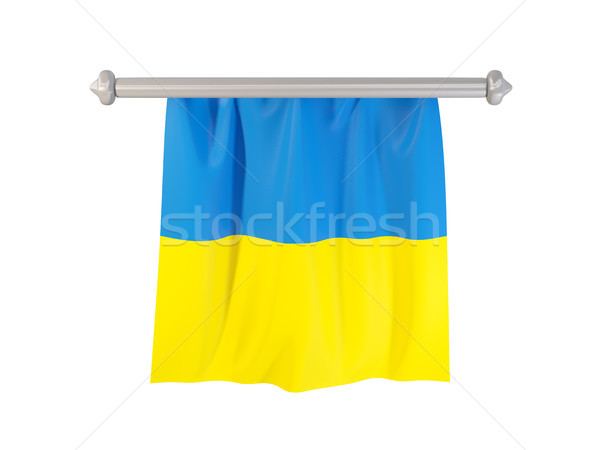 Pennant with flag of ukraine Stock photo © MikhailMishchenko