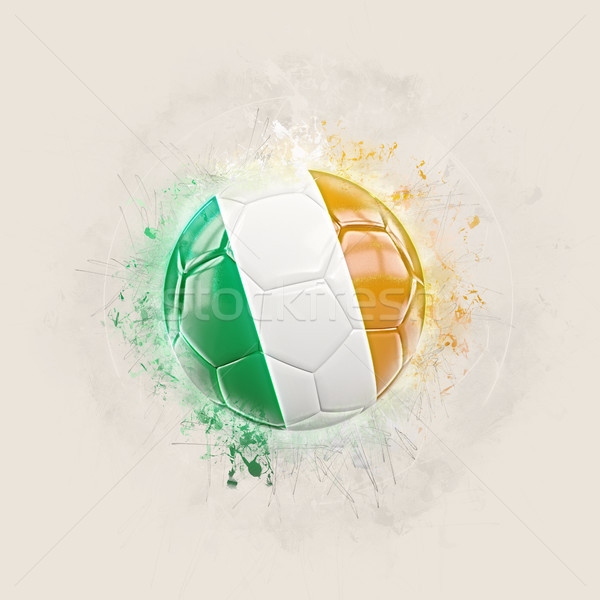 Grunge football with flag of ireland Stock photo © MikhailMishchenko