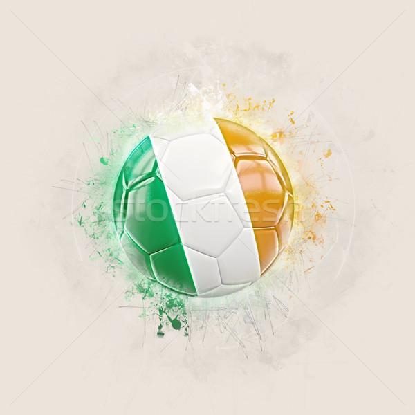 Grunge fútbol bandera Irlanda 3d mundo Foto stock © MikhailMishchenko