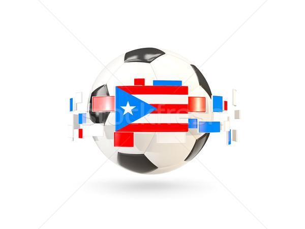 Voetbal lijn vlaggen vlag Puerto Rico Stockfoto © MikhailMishchenko