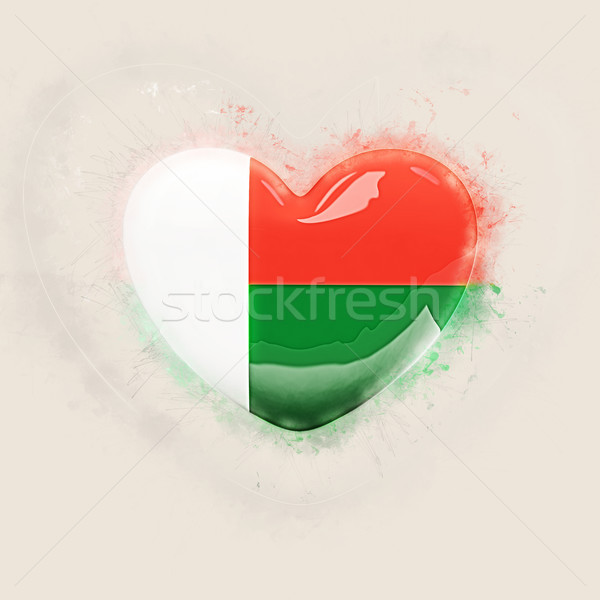 Heart with flag of madagascar Stock photo © MikhailMishchenko