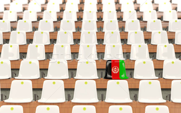 Stadium seat with flag of afghanistan Stock photo © MikhailMishchenko