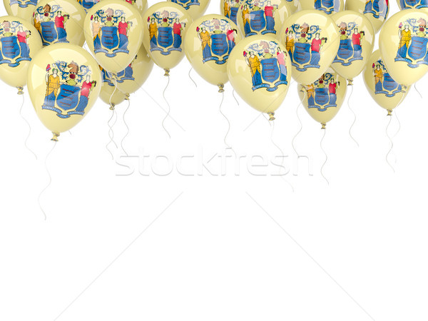 Balloons frame with flag of new jersey. United states local flag Stock photo © MikhailMishchenko