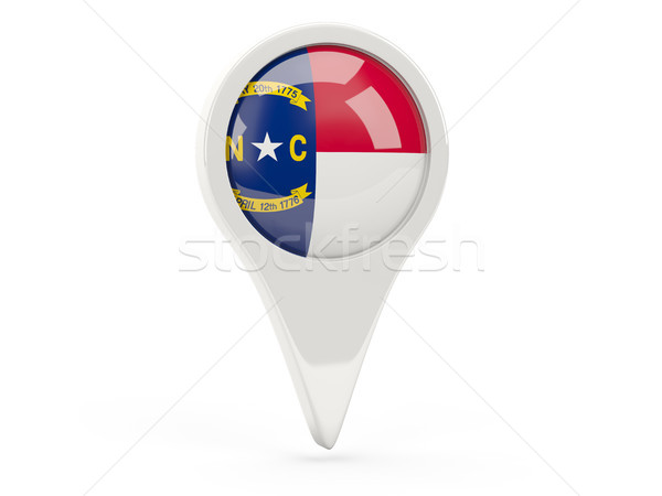 Round flag pin with flag of north carolina. United states local  Stock photo © MikhailMishchenko