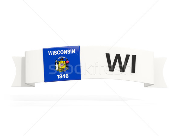 wisconsin state flag on banner with postal abbreviation isolated Stock photo © MikhailMishchenko