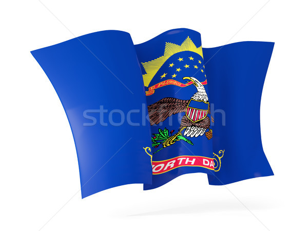 north dakota state flag waving icon close up. United states loca Stock photo © MikhailMishchenko