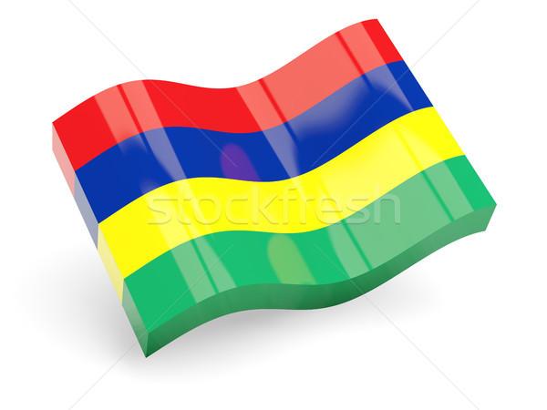 3D bandera Mauricio aislado blanco viaje Foto stock © MikhailMishchenko