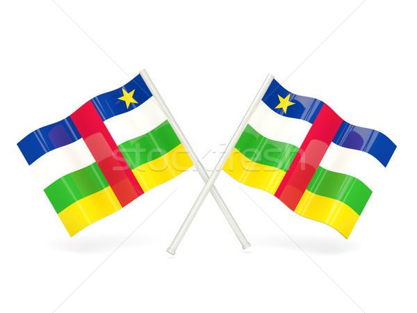 флаг центральный африканских республика два волнистый Сток-фото © MikhailMishchenko