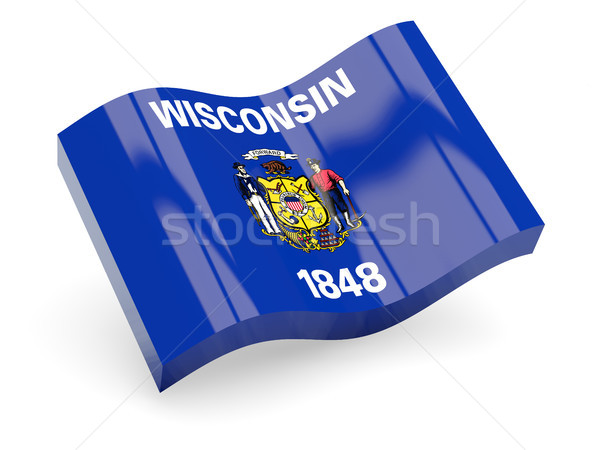 волнистый икона Висконсин флаг Сток-фото © MikhailMishchenko
