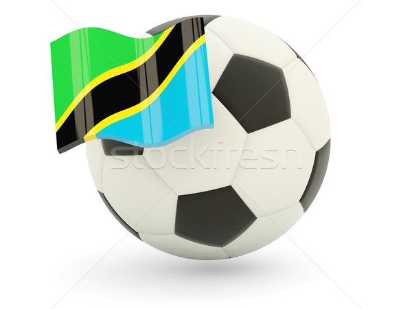 Futball zászló Tanzánia izolált fehér sport Stock fotó © MikhailMishchenko