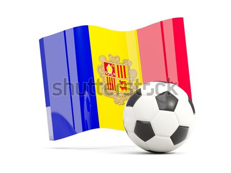 Flag of andorra with football in front of it Stock photo © MikhailMishchenko