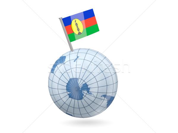 Globe with flag of new caledonia Stock photo © MikhailMishchenko
