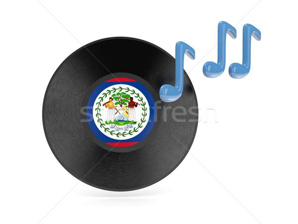 Bakelit lemez zászló Belize izolált fehér Stock fotó © MikhailMishchenko