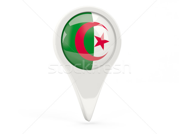 флаг икона Алжир изолированный белый карта Сток-фото © MikhailMishchenko