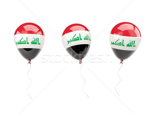 Stock fotó: Levegő · léggömbök · zászló · Irak · izolált · fehér