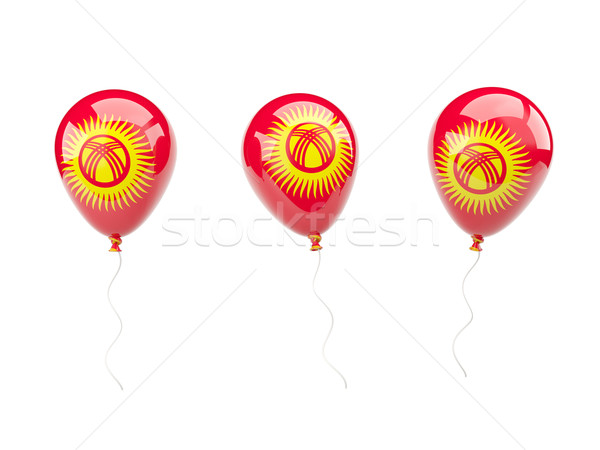 Lucht ballonnen vlag Kirgizië geïsoleerd witte Stockfoto © MikhailMishchenko
