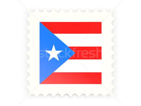 Icon Puerto Rico geïsoleerd witte teken Stockfoto © MikhailMishchenko