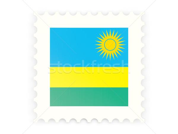 почтовая марка икона Руанда изолированный белый знак Сток-фото © MikhailMishchenko