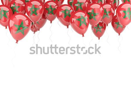 Balloon frame with flag of albania Stock photo © MikhailMishchenko