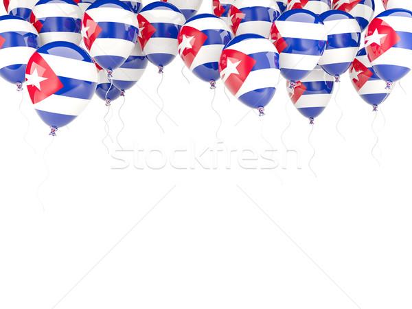 Balon çerçeve bayrak Küba yalıtılmış beyaz Stok fotoğraf © MikhailMishchenko