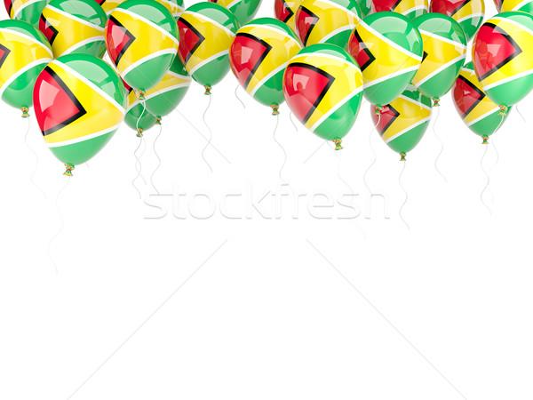 Ballon frame vlag Guyana geïsoleerd witte Stockfoto © MikhailMishchenko