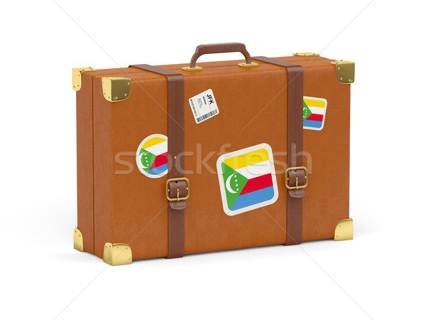 Suitcase with flag of comoros Stock photo © MikhailMishchenko