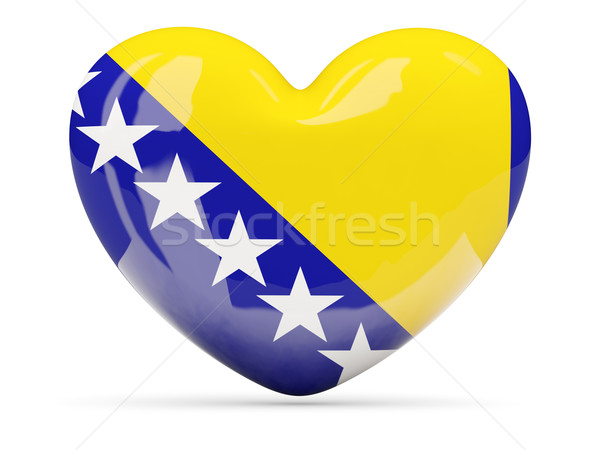 Coração ícone bandeira Bósnia-Herzegovina isolado Foto stock © MikhailMishchenko