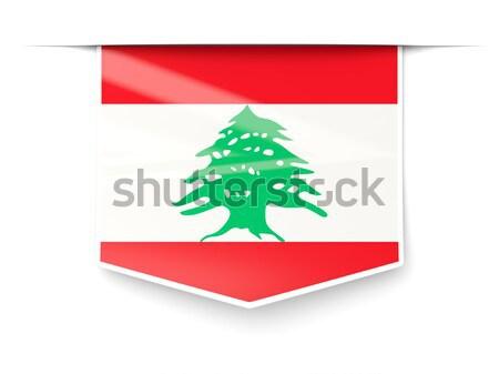ストックフォト: 広場 · アイコン · フラグ · レバノン · 金属 · フレーム