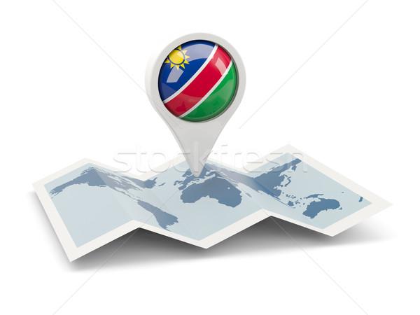 ピン フラグ ナミビア 地図 旅行 白 ストックフォト © MikhailMishchenko