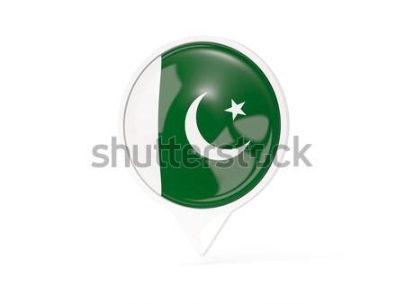 Gomb zászló Pakisztán fém keret utazás Stock fotó © MikhailMishchenko