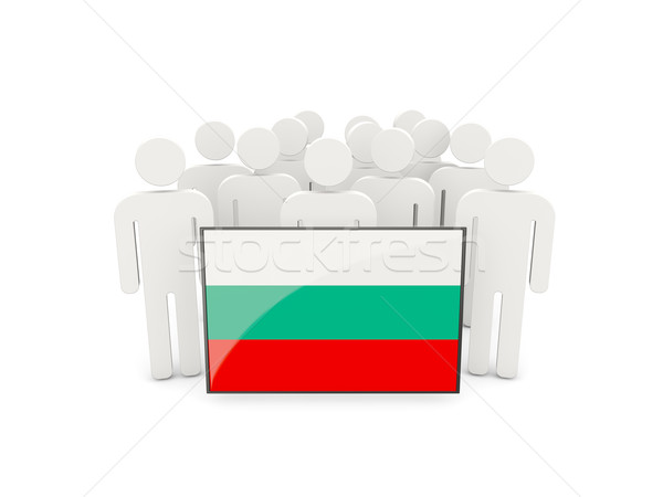люди флаг Болгария изолированный белый толпа Сток-фото © MikhailMishchenko