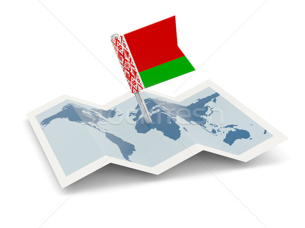 Mapa bandera Bielorrusia aislado blanco Foto stock © MikhailMishchenko