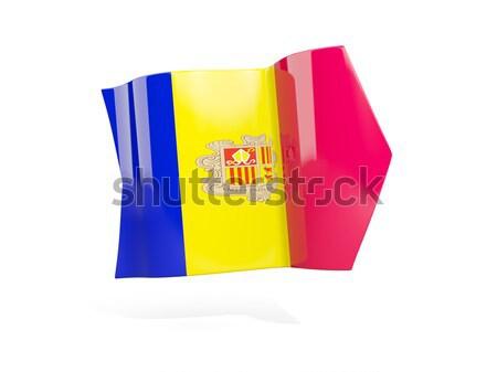 Cuadrados etiqueta bandera Chad aislado blanco Foto stock © MikhailMishchenko