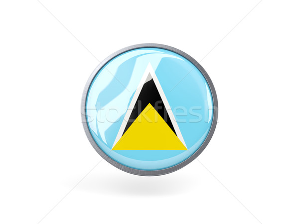 Round icon with flag of saint lucia Stock photo © MikhailMishchenko