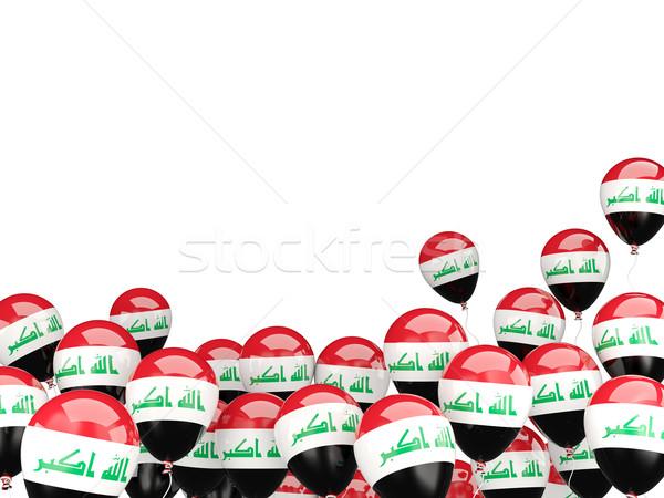 Flying balloons with flag of iraq Stock photo © MikhailMishchenko