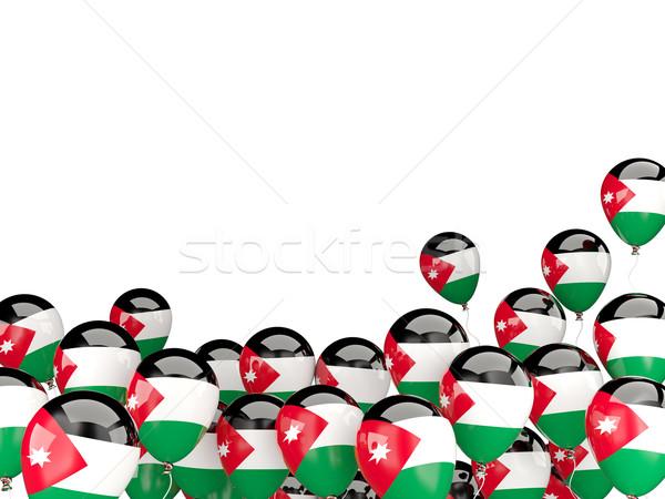 Flying balloons with flag of jordan Stock photo © MikhailMishchenko